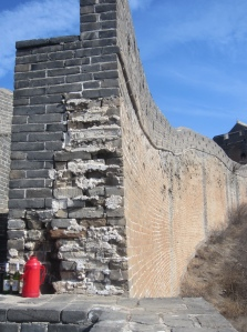 Snack sellers on the Great Wall at Jinshanling of course carry hot water and beer.